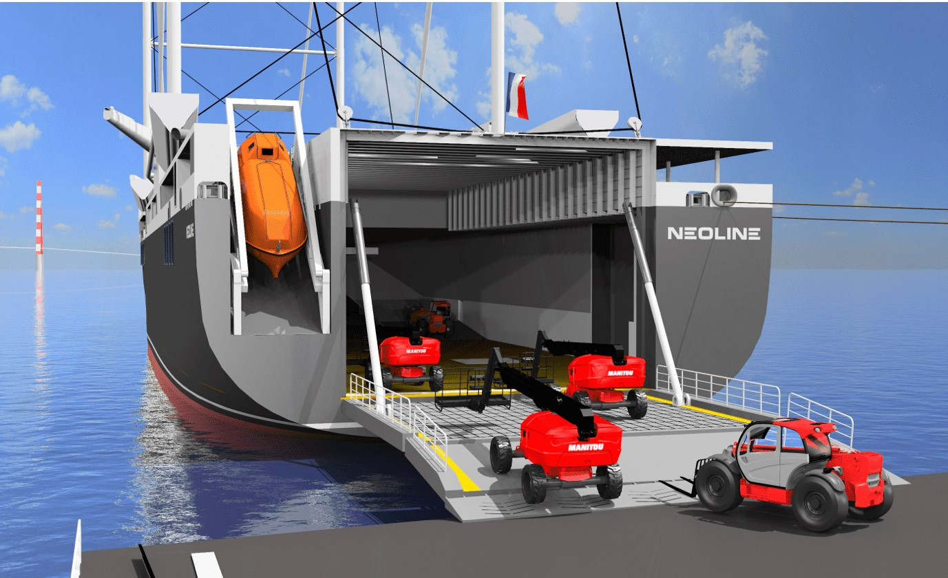 Manitou Group's support for the NEOLINE maritime transport